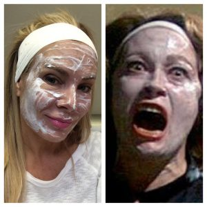 I knew I had something in common with Faye Dunaway, portraying Joan Crawford in Mommie Dearest, numbing cream!