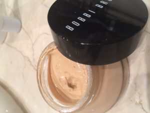 Tip: have on hand a tinted moisturizer with a high SPF. My favorite was Bobbi Brown tinted balm SPF50