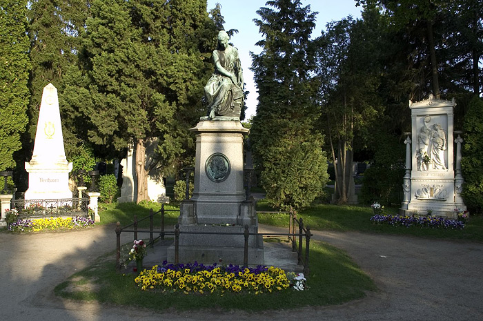 Beethovan and Schubert along with artist Gustav Klimt are buried at the central cemetery in Vienna.